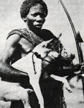 Asongo-Meno hunter with Basenji.