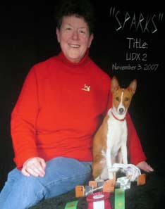 Basenji with owner